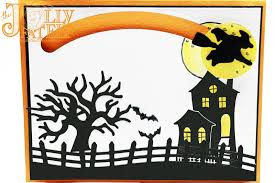halloween scene clipart the jolly fat elf stampin u0027 up shooting star project 3 spooky