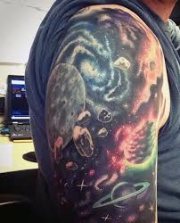 70 outer space tattoos for men u2013 galaxy clusters and