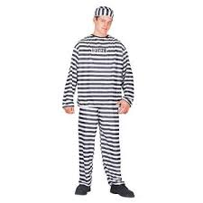 Convict Halloween Costumes Totally Ghoul Convict Men U0027s Halloween Costume Size Size Fits