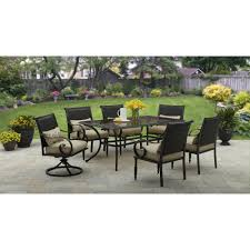 Patio 7 Piece Dining Set - better homes and gardens englewood heights ii aluminum 7 piece