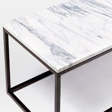 Marble Living Room Table Box Frame Coffee Table Marble Antique Bronze West Elm