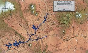 Escalante Utah Map by Hole In The Rock Expedition