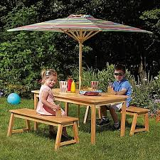 wooden childrens picnic table amazon com kid s acacia wood 4 piece fun durable outdoor picnic