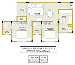 floor plans of ozone evergreens 2 and 3 bhk apartments for sale