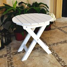 Outdoor Folding Side Table Shine Company Inc Adirondack Folding Side Table Reviews