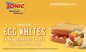 Sonic Breakfast Toaster Sonic U0027s New Breakfast With Egg White Options And Five Customizable