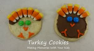 thanksgiving food crafts for kids another turkey cookie for thanksgiving making memories with your