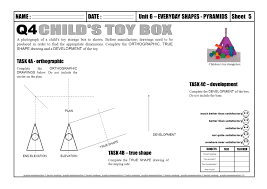 Shaped Box Toy Plan by Name Unit 6 U2013 Everyday Shapes Pyramidssheetdate Graphic