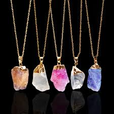 quartz necklace aliexpress images Docona blue red purple brazilian irregular natural stone quartz jpg