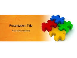 jigsaw puzzle with white and yellow powerpoint templates