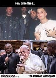 Pope Meme - how time flies funny eminem pope meme pmslweb