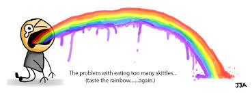 Meme Puking Rainbow - too many skittles puking rainbows know your meme