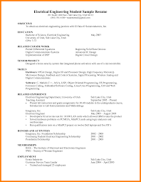 Resume For An Engineering Student 6 Engineering Student Resume Examples Marriage Biodata
