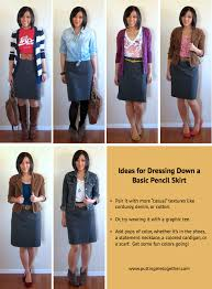 casual pencil skirt ways to dress a pencil skirt putting me together