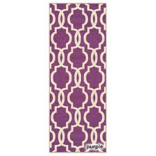 Lilac Runner Rug Fancy Moroccan Trellis Non Slip Runner Rug Rubber Backed 20 X 59
