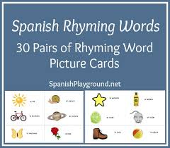 printable cards rhyming words from playground