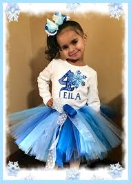 fractals snowflake girls blue birthday tutu