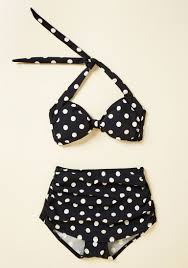 polkadot top blanket bingo two swimsuit in soft black 16 34