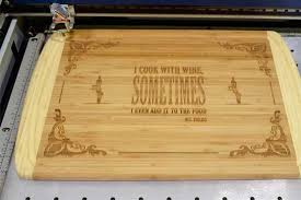 cutting board engraved engraved cutting board created with a laser