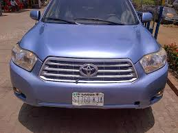 used lexus jeep in nigeria extremely clean well maintaned toyota highlander 2009 model for