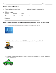 work and power worksheet name section 5 1 and 5
