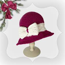 free crochet pattern for hat christmas joy craft pinterest