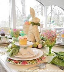 Easter Bunny Decoration Table by A Spring Table Setting With The Easter Bunny