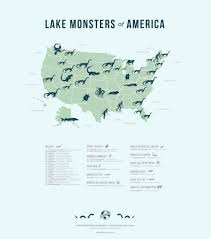 Eastern Half Of United States Map by The Lake Monsters Of America Atlas Obscura