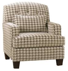 Accents Chairs Living Rooms by Patrick Contemporary Houndstooth Accent Chair With Track Arms By