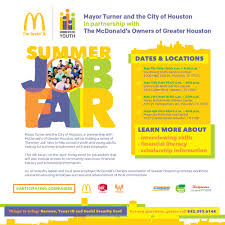 hire houston youth job fairs hobby area management district