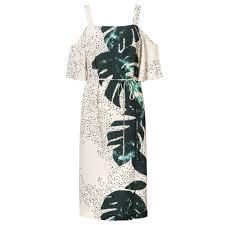 multi lush off the shoulder dress oliver bonas