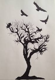 and tree i d want more branches and one of the crows