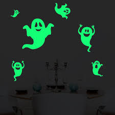 amazon com luminous sticker proboths creative removable luminous six timid ghosts wall decals halloween decorations glow in the dark xyiyi spooky wall stickers