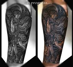 st michael archangel tattoo cover up tattoo studio in bangalore