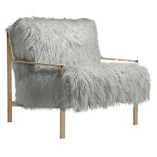 Accent Chairs Axel Fur Accent Chair Chagne Mar Living Room