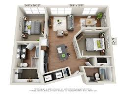 Floor Plan Of An Apartment The Vue Beachwood Oh Cleveland Com