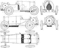 bugatti drawing car blueprints bugatti type 23 brescia blueprints vector