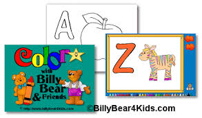 free abc coloring book program kids billybear4kids