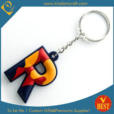 china gifts china cheap high quality colorful r letter logo rubber pvc key