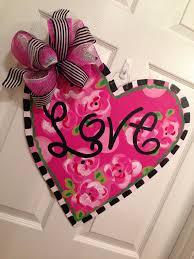 Valentine S Day Front Door Decor by Valentine Door Hanger Be Mine Happy Valentine U0027s Day Door Decor