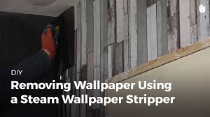 how to remove wallpaper with a steamer diy projects youtube