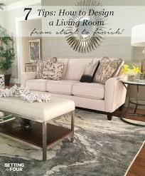 Living Room Design Ideas And  Giveaway Setting For Four - Living room design tips