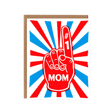 mothers day card orange twist mom foam finger 1 u2013 birthday and mother u0027s day card