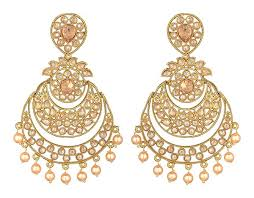 dangler earrings earrings gold chand bali pearl dangler jyotsna bhatia