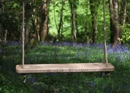 seated oak rope wedding swings sitting spiritually