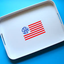 monogramed tray diy american flag monogrammed tray weekend pursuits