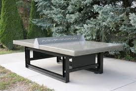 outdoor concrete ping pong tennis table with steel base doty