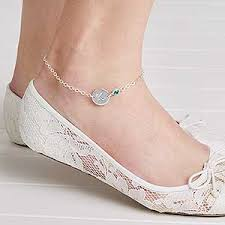 bracelets with birthstones personalized ankle bracelets with swarovski birthstones