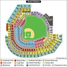 Angel Stadium Seating Map Busch Stadium St Louis Cardinals Ballpark Ballparks Of Baseball