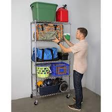 5 Shelf Wire Shelving Nsf Wire Shelving Garage Storage Racks Saferacks